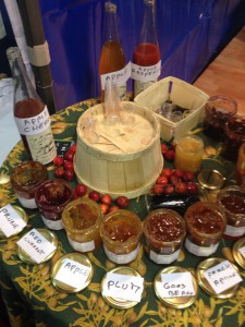 French jams crammed with fruit and the odd splash of alcohol - fantastique!