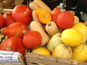 Seasonal produce in French markets