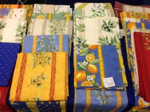 French tablecloths from Provence