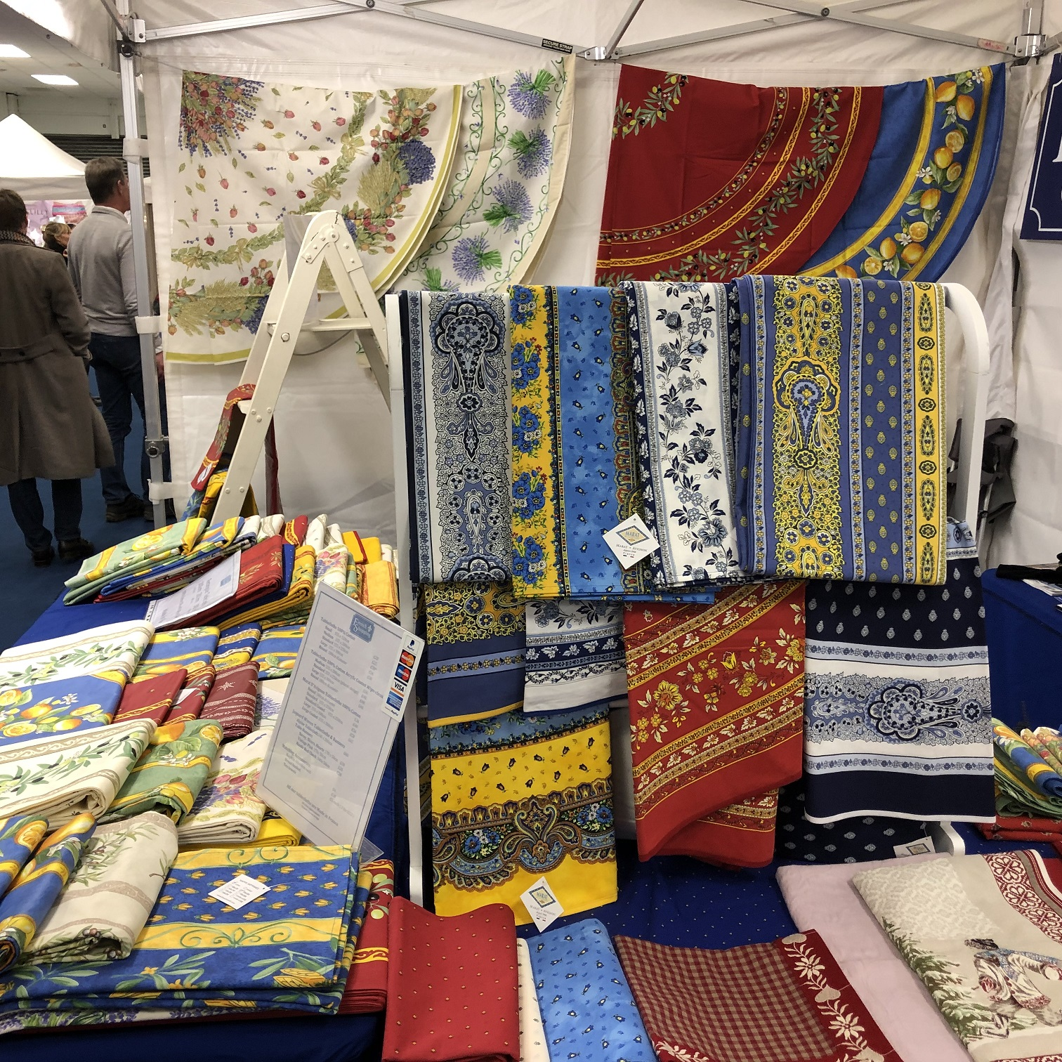 French tablcloths at the France Show 2019