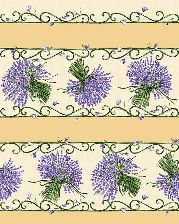 Lavender Tablecloth Rectangular Cream